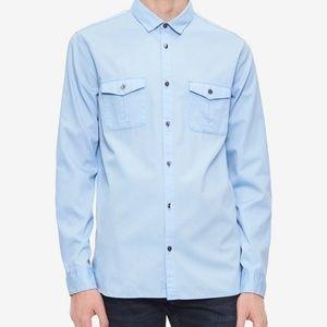 Calvin Klein Men's Washed Bedford Shirt, Size XL
